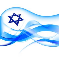 israel flag abstract illustration