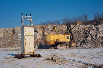 Excavator and transformer vault