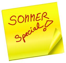 Haftnotiz - Sommer Special