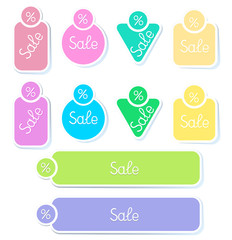 Set vector stickers