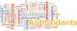 Antioxidants health background concept