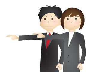 指を指すビジネスマンチーム