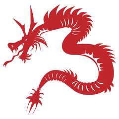 Red serpent dragon