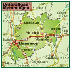 Landkreise Unterallgäu + Memmingen Variante5