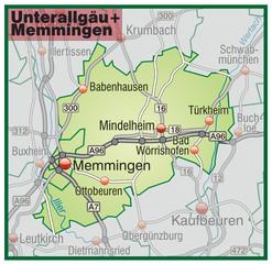 Landkreise Unterallgäu + Memmingen Variante6