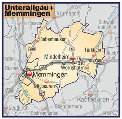 Landkreise Unterallgäu + Memmingen Variante7