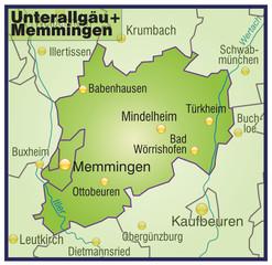 Landkreise Unterallgäu + Memmingen Variante8