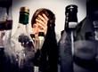 Leinwanddruck Bild - Drinking