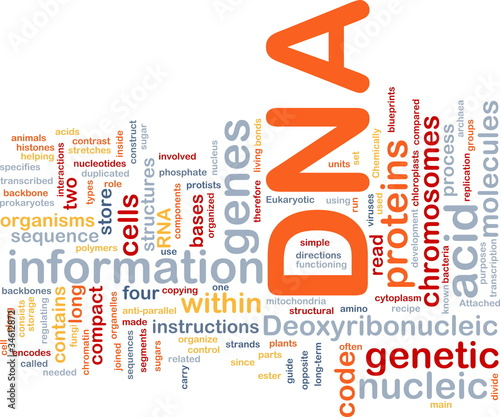 DNA genetic background concept