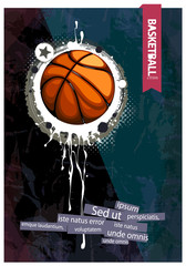 Grunge basketball illustration.