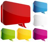 Fototapety 7 Coloured Speech Bubbles