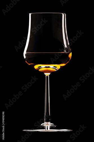 coctail glass  isolated on black