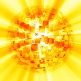 Lightcubes discoball gold white poster