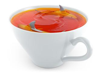 shark in cup