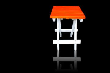 Chair on black shadow