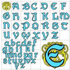 ABC Alphabet background augusta blue design
