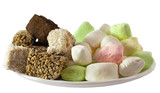 Assorted Turkish Delight Lokum and parvarda isolated poster