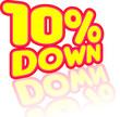 10% down