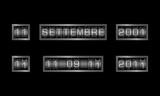 11 SETTEMBRE metal counter - testo italiano