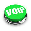 VOIP Word or Acronym on Green Round Button
