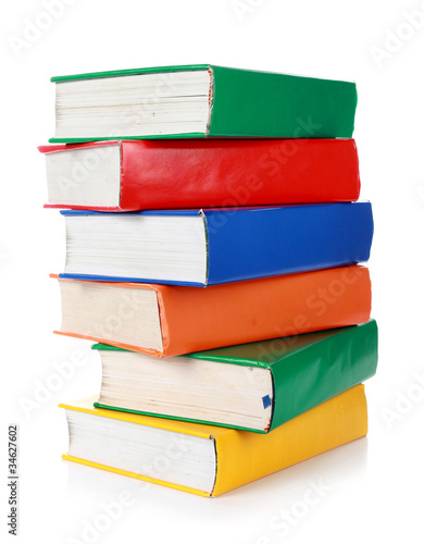 Stack of many colorful books