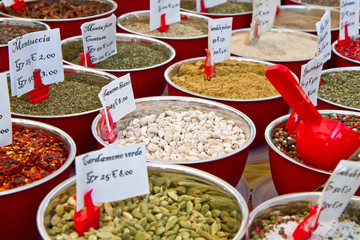 different spices on sale