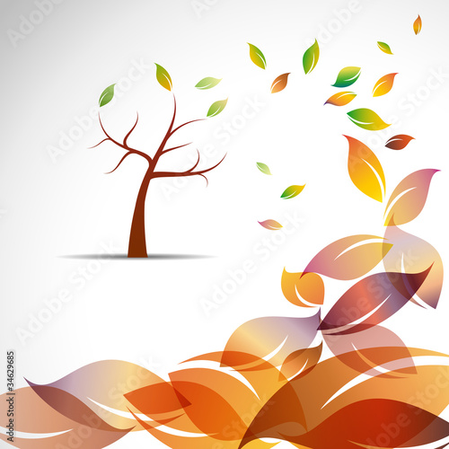 Abstract Autumn # Vector