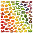 Rainbow collection of fruits and vegetables - 34629804