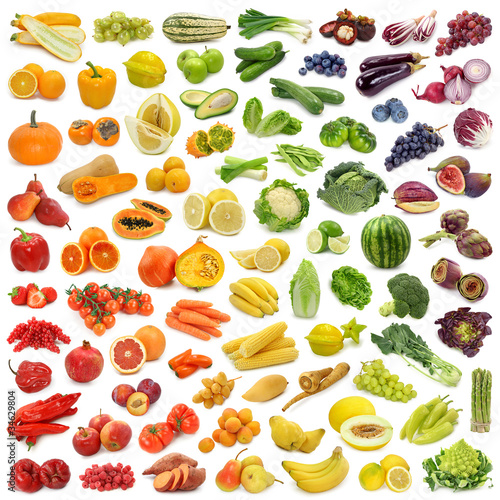 Fotobehang Keuken Rainbow collection of fruits and vegetables