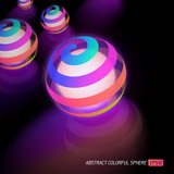 Abstract vector colorful ball