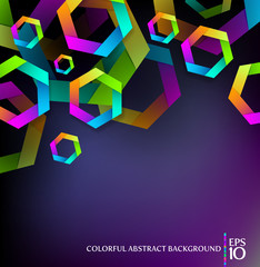 Abstract vector background with colorful hexagons