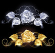 Gold and silver rose