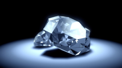 Seamless turning diamonds with light glow