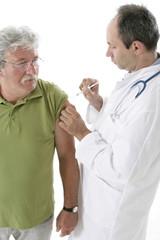 Vaccination d'un sénior
