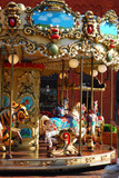 beautiful merry-go-round with horses - 34636467