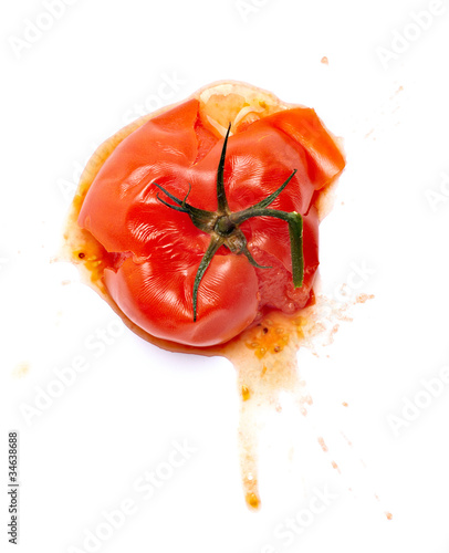 splattered splashed tomato vegetable food