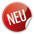 Button Rabatt - Neu neues New News Sasion rot