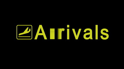 Arrivals word