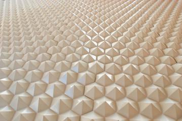 White reflective pyramid
