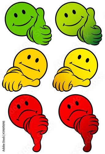 GamesAgeddon  Smileys 2 Thumbs 3D To Tick A Box  Lizenzfreie