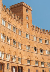 A building on a main square in Siena, Italy, Tuscany