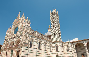 Main cathedral in Siena woth a tower - Tuscany, Italy