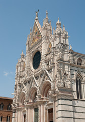the Main cathedral in Siena, Tuscany, Italy