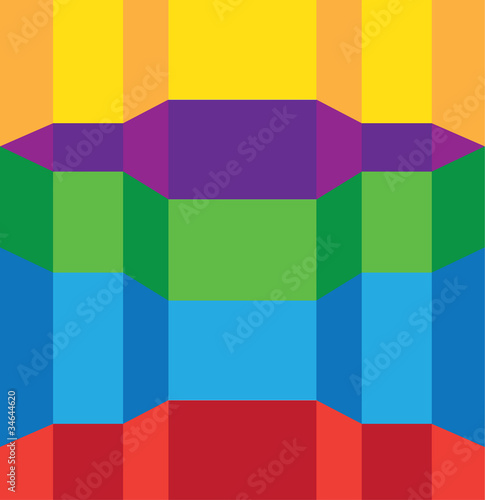 Fototapeta abstract shapes color background illustration