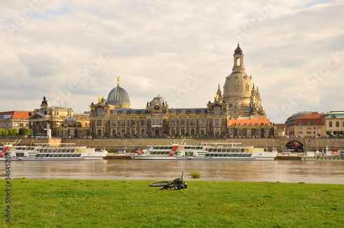 Elbe and women church Dresden(Germany)