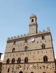 Main square view from Volterra - city in Tuscany