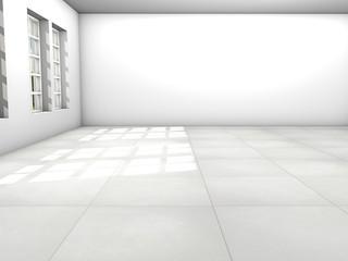 3d Rendering Raum weiß - white room
