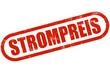 Grunge Stempel rot STROMPREIS