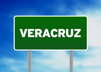 Green Road Sign - Veracruz