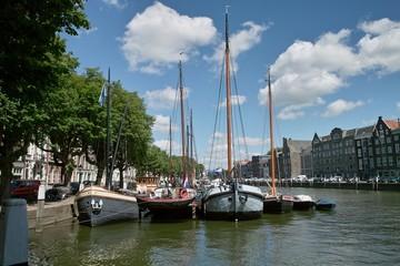 Boats in harbor - Dordrecht